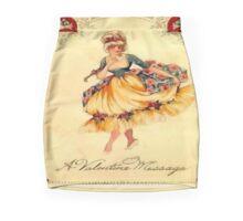 Vintage Valentine Message Mini Skirt