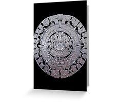 Modern Aztec Sun Stone Greeting Card