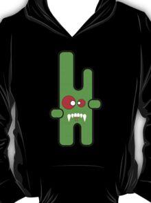 Funny digital green vampire alien T-Shirt