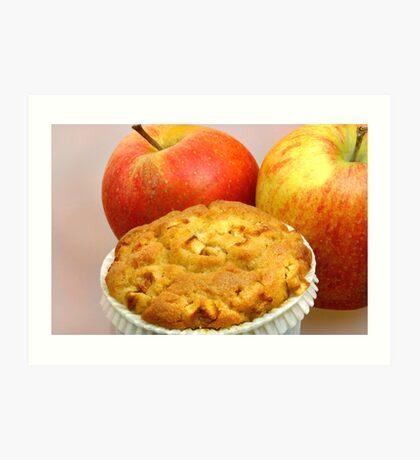 Apple Crumble Muffin  Art Print