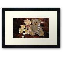 Boy & Girl Teddy with Pooh Bear. Framed Print