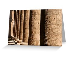 Columns of hieroglyphics, Edfu Temple of Horus Greeting Card
