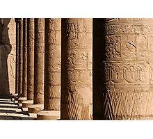 Columns of hieroglyphics, Edfu Temple of Horus Photographic Print