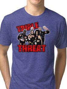 ECW Triple Threat  Tri-blend T-Shirt