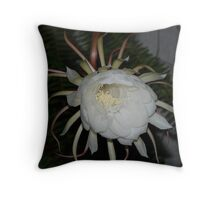 White Queen of the Night Throw Pillow