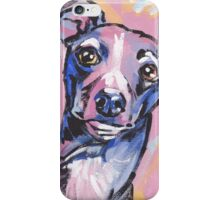 Italian Greyhound Dog Bright colorful pop dog art iPhone Case/Skin