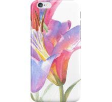 Watercolor Lily Close-up iPhone Case/Skin