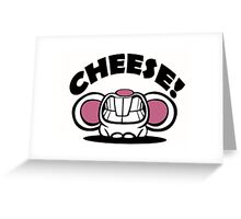 "Funny ""Say Cheese"" mouse Greeting Card"