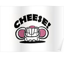 """Funny """"Say Cheese"""" mouse Poster"""