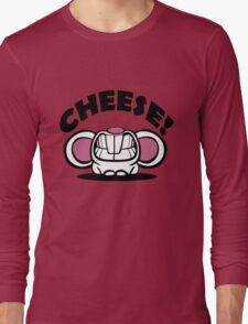 """Funny """"Say Cheese"""" mouse Long Sleeve T-Shirt"""