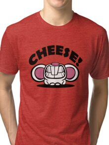 "Funny ""Say Cheese"" mouse Tri-blend T-Shirt"