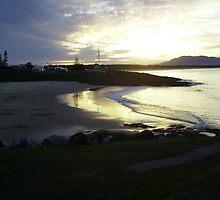 Sunrise over Horseshoe Bay, Sth. West Rocks. by Mywildscapepics