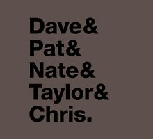 Foo Fighters • Dave & Pat & Nate & Taylor & Chris. Unisex T-Shirt