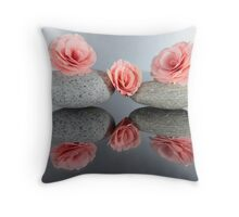 Begonia Giant Ruffled Salmon Throw Pillow