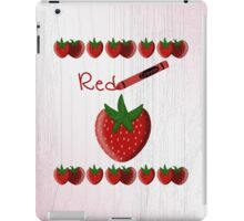 Red Crayon with Strawberry iPad Case/Skin