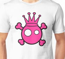 Funny pink skull and bones king Unisex T-Shirt