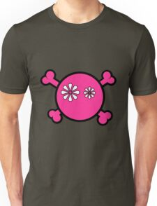 Funny pink skull and bones Unisex T-Shirt