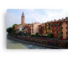 River-front Colour  Canvas Print