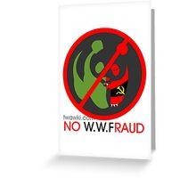World Wide Fraud Greeting Card
