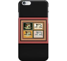 Vintage Tea Cup Altered Art Collage iPhone Case/Skin
