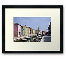 Colours of Burano Framed Print