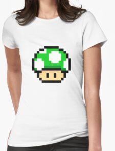 Green Mario Mushroom Womens Fitted T-Shirt
