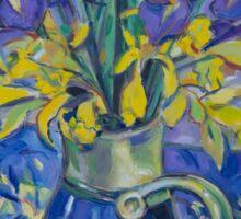 Iris and Daffodil Sticker