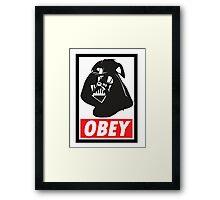 OBEY Vader Framed Print