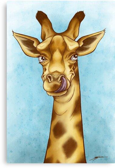 Silly Giraffe by Ine Spee