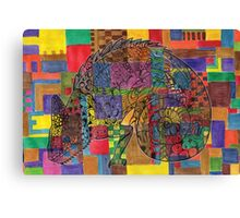 Puzzled Canvas Print