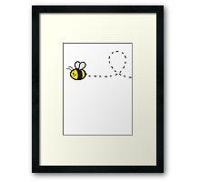 Cute Bee Top Framed Print