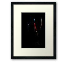 Glassy Silhouette 1 Framed Print