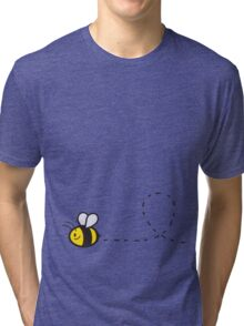 Cute Bee Bottom Tri-blend T-Shirt