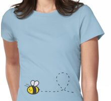 Cute Bee Bottom Womens Fitted T-Shirt