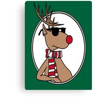 Chillin' Rudolph the Red Nosed Reindeer Canvas Print