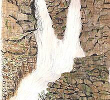 Rocky Mountain Cascade by GEORGE SANDERSON