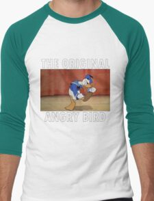 The Original Angry Bird (Donald Duck) Men's Baseball ¾ T-Shirt