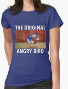 The Original Angry Bird (Donald Duck) Womens Fitted T-Shirt