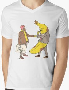 Will Work for Food Mens V-Neck T-Shirt