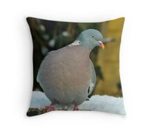 Test - Wood Pigeon Throw Pillow