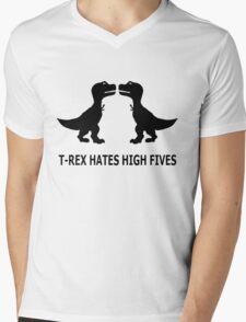 T-Rex hates high five! Mens V-Neck T-Shirt