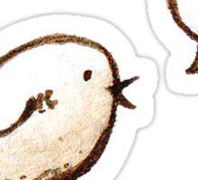 Whistle bird dark Sticker