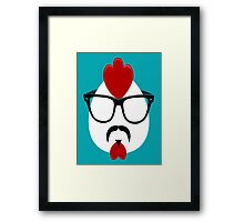 Hipster Chicken Framed Print