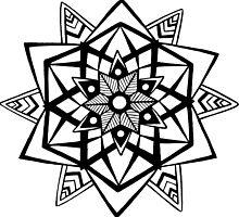 Abstract mandala by Abbigaildee
