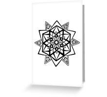 Abstract mandala Greeting Card
