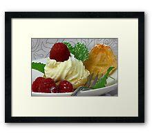 Fruity, Creamy, Light  Framed Print