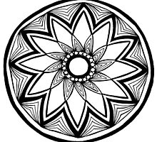 Contained flower mandala by Abbigaildee