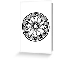 Contained flower mandala Greeting Card