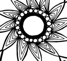 Contained flower mandala Sticker