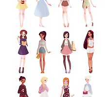 Casual Princesses by punziella